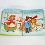 Click to view larger image of 1953 Christmas Pop Up Santa Mother Goose Book In Box With Toys (Image7)