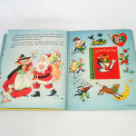 Click to view larger image of 1953 Christmas Pop Up Santa Mother Goose Book In Box With Toys (Image8)