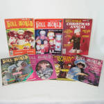 Click here to enlarge image and see more about item 14012: 7 Issues National Doll World Magazine 1983