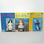 Click here to enlarge image and see more about item 14014: 3 Issues National Doll World Magazine 1985