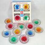 Click here to enlarge image and see more about item 14026: 1960s Christmas Light Reflectors for Miniature Bulbs Set 20