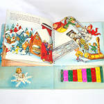 Click to view larger image of Santa's Tuney Toy 1956 Christmas Pop Up Book With Xylophone (Image6)