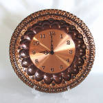 Click here to enlarge image and see more about item 14073: Italian Copper Charger Wall Clock