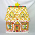 Click here to enlarge image and see more about item 14079: Gingerbread House Christmas Cookie Jar Hallmark