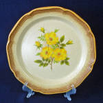 Click here to enlarge image and see more about item 14085: Mikasa Wild Rose Whole Wheat Dinner Plates, 4 Available