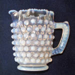 Click here to enlarge image and see more about item 14124: Hobbs Brockunier Opalescent Dew Drop Creamer