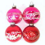 Click to view larger image of Box Shiny Brite Stencil Scene Glass Christmas Ornaments (Image6)