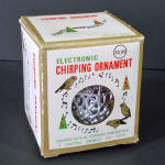 Click here to enlarge image and see more about item 14219: 1970s Electronic Chirping Bird Musical Christmas Ornament