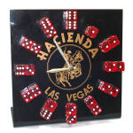 Click here to enlarge image and see more about item 14262: Las Vegas Hacienda Casino Dice Clock