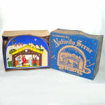 Click here to enlarge image and see more about item 14363: Glolite 1950s Lighted Christmas Nativity Scene Display in Original Box