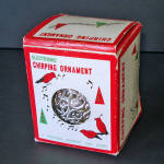 Click here to enlarge image and see more about item 14365: 1970s Electronic Chirping Bird Musical Christmas Ornament