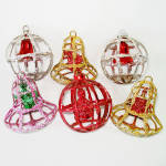 Click here to enlarge image and see more about item 14367: Bradford Plastic 3D Windowpane Cage Christmas Ornaments
