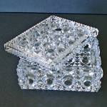 Click to view larger image of Imperial Button and Cane Crystal Cigarette or Trinket Box (Image3)