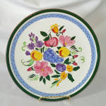 Click here to enlarge image and see more about item 14382: Stangl Pottery Fruit and Flowers Dinner Plate