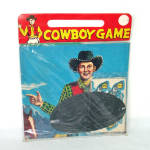 Click here to enlarge image and see more about item 14407: 1950s Dimestore Cowboy Game Toy Mint in Package