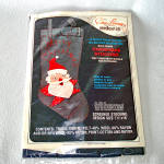 Click here to enlarge image and see more about item 14408: Edna Looney Denim Santa Christmas Stocking Needlework Kit