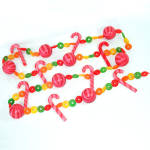 Lifesavers Candy Cane Retro Soft Plastic Christmas Garland