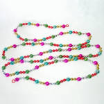 Multi Color Beaded Christmas Tree Garland Unbreakable