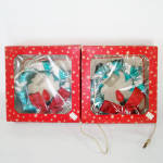2 Boxed Ringalite Lighted Metallic Foil Christmas Wreaths