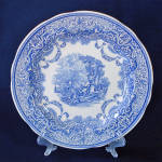 Click here to enlarge image and see more about item 14506: Spode Blue Room Continental Views Dinner Plate Mint