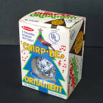 Click here to enlarge image and see more about item 14513: 1970s Electronic Chirping Bird Musical Christmas Ornament
