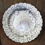 Click here to enlarge image and see more about item 14523: Reed And Barton Silverplate Strawberries Leaves Bowl