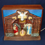 Click here to enlarge image and see more about item 14558: Royal Electric Musical Christmas Nativity Display in Original Box