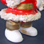 Click to view larger image of Ceramic Spaghetti Santa Claus With Dove Christmas Figurine (Image3)