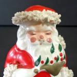 Click to view larger image of Ceramic Spaghetti Santa Claus With Dove Christmas Figurine (Image4)