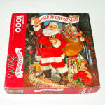 Click here to enlarge image and see more about item 14587: Merry Christmas Santa Springbok 1000 Piece Puzzle