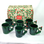 Click here to enlarge image and see more about item 14589: Boxed Set Lefton Christmas Pixie Elf Mugs