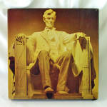 Click here to enlarge image and see more about item 14602: Lincoln Memorial 1975 Eaton Jigsaw Puzzle 500 Pieces