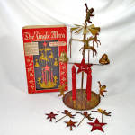 Click here to enlarge image and see more about item 14603: Jingle Abra Swedish Brass Christmas Angel Reindeer Candle Chimes