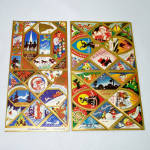 Click here to enlarge image and see more about item 14672: 1937 Art Deco Gummed Christmas Seals Stickers