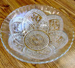 Click to view larger image of Indiana Glass Flower Medallion EAPG Serving Bowl (Image2)