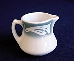 Click here to enlarge image and see more about item 1931: Airbrushed Wellsville China Individual Restaurant Ware Creamer
