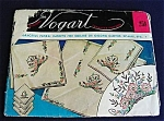 Click here to enlarge image and see more about item 2335: 1950s Vogart Embroidery Transfer Pattern - Double Sheet Flower Baskets