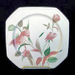 Click here to enlarge image and see more about item 2404: Mikasa Silk Flowers Square Platter