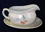 Click here to enlarge image and see more about item 2555: Marmalade International China Gravy Boat and Underplate