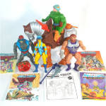 Click to view larger image of He-Man Masters of the Universe Lot of Action Figures, Horse, Comics (Image1)