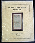 Click here to enlarge image and see more about item 2626: Queen Anne Band Sampler Cross Stitch Chart Pattern