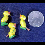 Click to view larger image of Easter Lot of 12 Painted Wooden Miniatures (Image3)