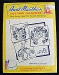 Click here to enlarge image and see more about item 3425: Aunt Martha's Cowboys, Horses and Deer Hot Iron Embroidery Transfers Uncut Sealed