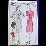 Click here to enlarge image and see more about item 3445: Advance 1940s Jacket and Skirt Suit Pattern Size 16