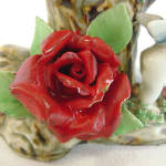Click to view larger image of Figural Putti Cherubs Planter Vase with Applied Porcelain Roses (Image3)