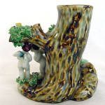 Click to view larger image of Figural Putti Cherubs Planter Vase with Applied Porcelain Roses (Image4)