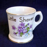 Click here to enlarge image and see more about item 3568: Occupied Japan Child's Shaving Mug with Violets