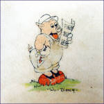 Click to view larger image of Walt Disney 3 Pigs 1930s Divided Childs Feeding Plate (Image2)