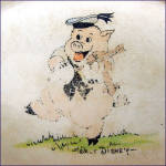 Click to view larger image of Walt Disney 3 Pigs 1930s Divided Childs Feeding Plate (Image3)