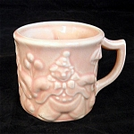 Red Wing Pottery Hankscraft Pink Childs Circus Clown Mug or Cup